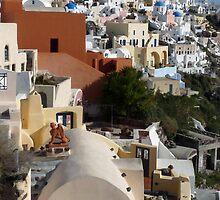 Beautiful Santorini by Lucinda Walter
