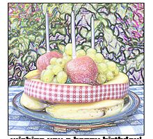 A healthy fruit cake birthday card by kevinxbrown