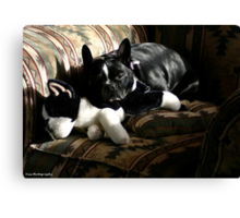 zoe and friend Canvas Print