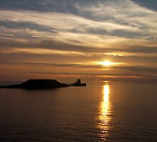 Worms Head, off Rhossili Bay, Wales,UK by Bev Pascoe