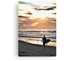 Old Bar Surfer Canvas Print