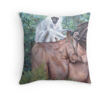 Obsessed ,   Arcylic on canvas 27x33 Throw Pillow