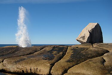 Bicheno Blowhole by Rhana Griffin