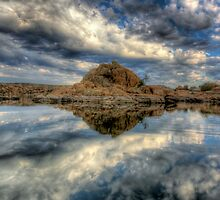 Watson Lake  Reflect 1 by Bob Larson