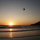 Sunset over Saunton by daintyriches