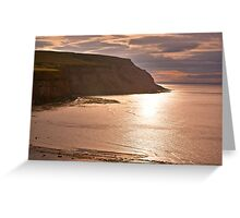 Sunset at Boulby Greeting Card