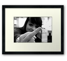 Youth culture false portrayal Framed Print