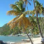 Marigot Bay, beach dreaming by Linda Jackson