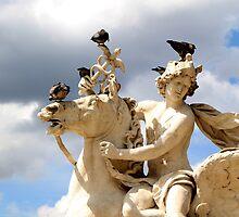 Statue Above Place de la Concorde Paris by Peggy Berger