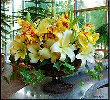 Lily and Tulip Arrangement by Mattie Bryant