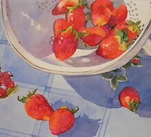 Spilling Strawberries by Kay Smith