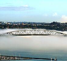 Auckland Bridge in Fog by Pip Gerard