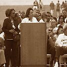 Mrs Coretta Scott King - Redeem the dream march - Washington D.C. 2000 A.D by Matsumoto