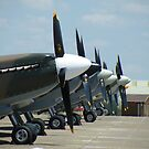 Spitfires at Duxford , Cambridgeshire by Matt Eagles