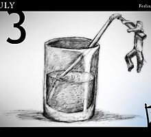 July 13th - Feeling Thirsty by 365 Notepads -  School of Faces