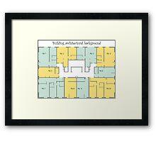 Building architectural background Framed Print