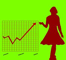 Business chart and women by Laschon Robert Paul
