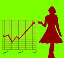 Business chart and women by Laschon Robert Paul
