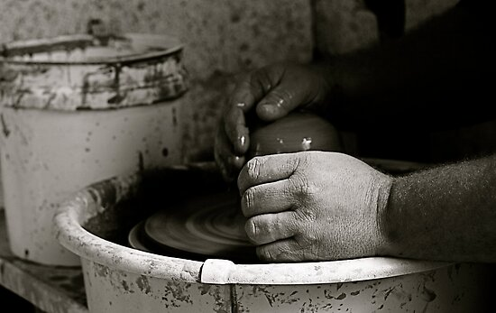 A Potter's Hands by Virginia Kelser Jones