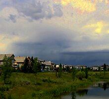 Threatening Storm Panorama by Al Bourassa
