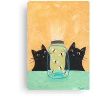 Fireflies in the Mason Jar Canvas Print