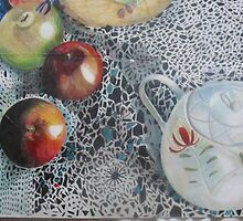 The apple & the teapot by Bow- Hannah  Jackson