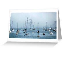 Sailing into the Fog   Greeting Card
