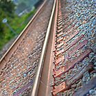 Railroad tracks by DevereauxPrints