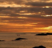 Sunset from Traigh,Arisaig. by John Cameron