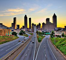 Atlanta skyline at dusk by RyanMurphy
