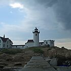 Eastpoint Lighthouse, Incoming Storm! by Linda Jackson