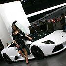 White Lamborghini Murcielago Roadster Geneva Motorshow by 2007bc