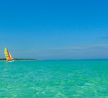 Sailing in Cayo Coco, Cuba by Josef Pittner