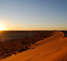 sunset at Simpson desert by ajhb89