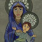 Virgin and child by Marie-Elena