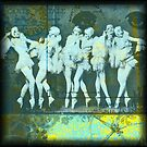 What the Girls Knew (Print from a Mixed Media collage) by rhianana