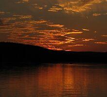 Gotta love a good sunset at dusk by loralea