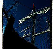 black pirate ship  by Tanya Day Photography