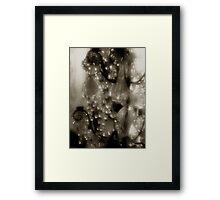 Victorian Bling in Sepia Framed Print