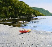 Kayak at Schreiber Beach by Douglas Hunt