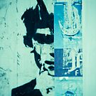 Street art face by Angel Benavides