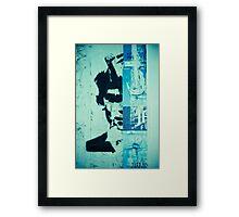 Street art face Framed Print