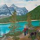 DSC 8995 Another one copy of Lake Louise oil on canvas.  by Lilykoli