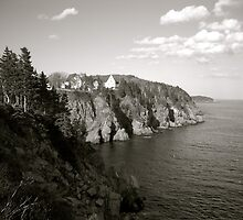 Coastline - B&W  by CaptureRadiance