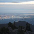 dusk over Vancouver from Mount Seymour by Christopher Barton