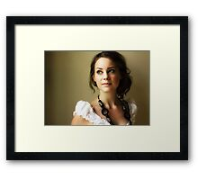 The Athena Complex/Self Portrait with Wooden Beads Framed Print