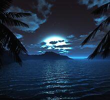 Moonlit Cove by 3DdesktopsUK
