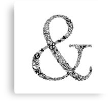 Ampersand Prints, Cards and Posters Canvas Print