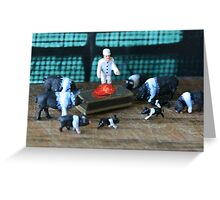 """Petunia had gathered the family around Porky's hospital bed when the doctor announced """"he's cured""""! Greeting Card"""
