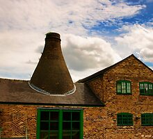 Enclosed Bottle Kiln by David J Knight